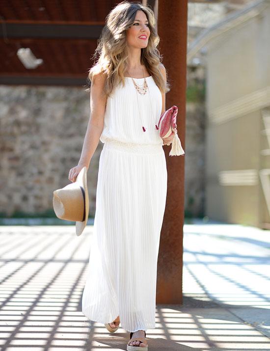 Vestido blanco para fiesta ibicenca